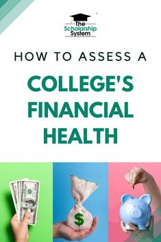 Now that has forced campuses to shut down a college's financial health is more important than ever. How do you determine whether a college is financially healthy? How to Assess a College's Financial Health College Goals, College Success, New College, Education College, College Hacks, How To Find Scholarships, Scholarships For College, Student Enrollment, College Search