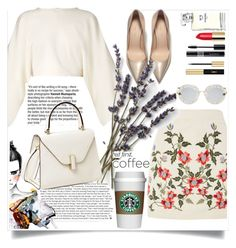 """""""But first coffe"""" by siham-dior ❤ liked on Polyvore featuring Chanel, Christian Dior, Yves Saint Laurent, STELLA McCARTNEY, Topshop, Valextra and Gucci"""