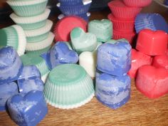 homemade scented soy wax melts :)