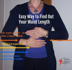 How to find if your short waisted, long waisted or have a balanced waist proportion