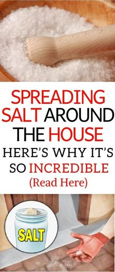 Health Beauty Remedies Spreading Salt Around The House – Here's Why It's So Incredible! - People have used salt in their homes for cleaning purposes, for hundreds of years It doesn't provide any toxic effects and this is Cleaning Solutions, Cleaning Hacks, Diy Hacks, Home Remedies, Natural Remedies, Holistic Remedies, Herbal Remedies, Health Remedies, Coconut Health Benefits