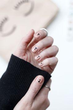 DIY simple y elegante art nail con puntos / DIY elegant and simple dot art nail
