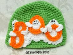 Ghostly Boo Hat Pattern OMG I WANT TO MAKE THIS!!!
