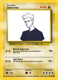 A Jason Pokémon card sorry Jason but I don't choose you..