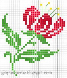 Resultado de imagen para imagenes de punto cruz faciles
