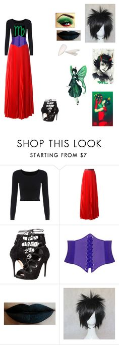 """""""Kanaya Maryam"""" by lillybagilly ❤ liked on Polyvore featuring Christopher Kane and Alexander McQueen"""