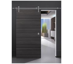 modern sliding barn door for interior -