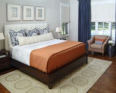 Traditional Blue And Orange Design, Pictures, Remodel, Decor and Ideas