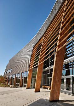 Machias Elementary School, Snohomish School District - NAC Architecture: Architects in Seattle & Spokane, Washington, Los Angeles, California Timber Architecture, Public Architecture, Architecture Images, Education Architecture, School Architecture, Architecture Details, Amazing Architecture, Sustainable Schools, Centre Commercial