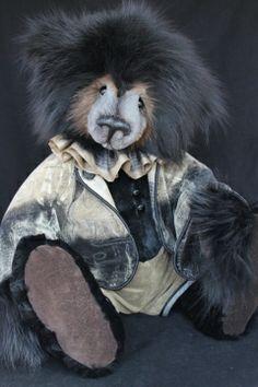 Black Fox Fur Bear by Lori Simon Fuzzy Wuzzy, Charlie Bears, Teddybear, Bear Toy, Needful Things, Black Bear, Fox Fur, Stuffed Animals, Rabbits
