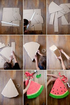 watermelon pinata ~ diy