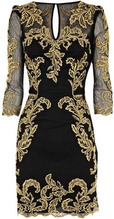 Karen Millen Baroque Mesh Dress
