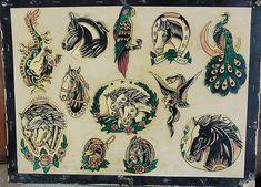 Pawtucket-horses | Vintage Tattoo Flash | Flickr