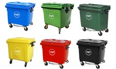 1100 liter green curbside Wheeled Dustbin for sale/waste bin/trash can Garbage Containers, Plastic Pallets, Waste Container, Welding Machine, Garbage Can, Trash Bins, Plastic Waste, Recycling Bins, Plastic Material