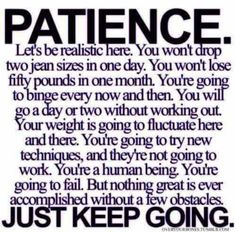 Just keep going.