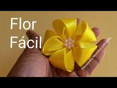 #florfacil Flor Facil de Fita de Cetim com Cinco Pétalas!🌸 - YouTube