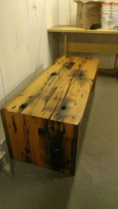 Reclaimed Bench - You just can't get this look with any other wood! #custom #oneofakind http://www.realantiquewood.com