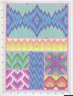 схема, bargello needlepoint sampler
