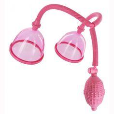 Female Breast Enhancement Enlargement Pump Enlarger with Dual Vacuum Suction Cup