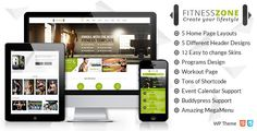 Fitness Zone v2.8 theme muscled for modern trend, gyms, sport club or fitness centre and personal trainers! Fully responsive layout that looks great on mobile and tablet devices. With inbuilt drag and drop page builder you can make the website creation a whole lot easier.  Fitness Zone v2.8...