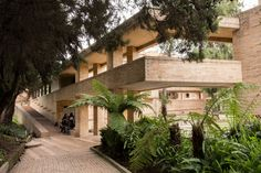 """""""Faculty of Human Sciences of the National University of Colombia, Bogotá - Pin Coffee Brick Architecture, Sacred Architecture, Cultural Architecture, Education Architecture, Residential Architecture, Landscape Architecture, Brick Works, Brick Construction, Beautiful Buildings"""