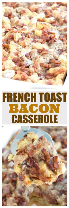 French toast bacon casserole makes a wonderful breakfast or brunch to serve family and friends.  #MadeWithLovePublix #ad #frenchtoastcasserole #breakfastcasserole #brunch #holidaybrunch