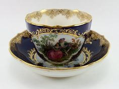 Meissen Watteau Cup & Saucer