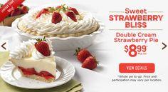 Double Cream Strawberry Pie #mariecallenders #pie #dessert
