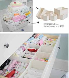 Drawer Organizing with boxes