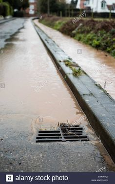 March becks in the villages of Oxton ,and Gonalston have burst their banks in places . Water lane in Oxton was flooded earlier Environment Agency, Live News, Banks, March, Rain, Stock Photos, Building, Places, Water