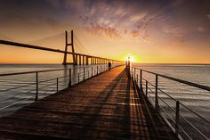 The walker by Jorge Maia Beverly Hills, Fine Art America, Sunrise, Bridge, Instagram Images, United States, Lisbon, Sunrises, Bro