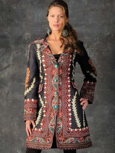 Vintage Collection + Silk Embroidered Duster