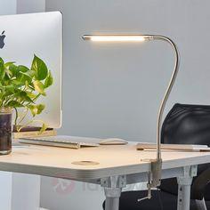 Design desk lamp aluminum with clamp incl. Attic Inspiration, Long Lamp, Desk Lamp, Table Lamp, Lampe Led, Working Area, Modern Interior Design, Aluminium, Led Lamp