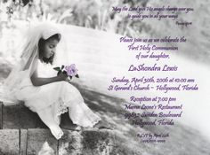 first holy communion invitations St Gerard, Holy Communion Invitations, First Holy Communion, Psalms, Holi, Reception, African, Confirmation, Children