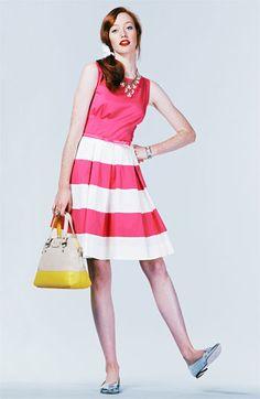 kate spade new york 'celina' stretch cotton fit & flare dress   Nordstrom