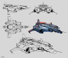 Halo 5 Guardians concept art for the ONI Prowler By Sparth Space Ship Concept Art, Concept Ships, Spaceship Art, Spaceship Design, Illustration Avion, Halo Ships, Starship Concept, Sci Fi Spaceships, Sci Fi Ships