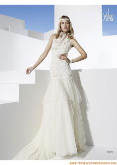 Moda Traje de novia de encaje y organza 2014