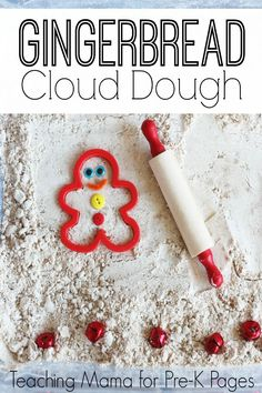 Gingerbread cloud dough recipe for preschool