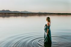 Summer and pregnancy sometimes means getting in the water! And it was magical. Dress by Sew Trendy Accessories.