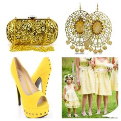 Lemon Zest Inspired Bridesmaid