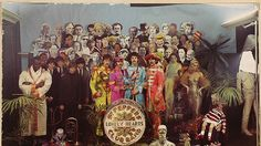 Sgt. Pepper photo shoot. The illusion is shattered. You're welcome.