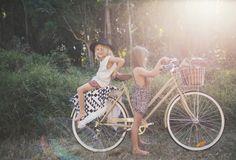 Children of the Tribe Boho Kid Hippy Kid Retro Bike - Desert Sands Kaftan & Tipi Vacation Short + Summer Safari Overalls Cute Kids, Cute Babies, Baby Kids, Look Fashion, Kids Fashion, The Beach People, Retro Bike, Portraits, Young Ones