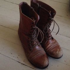 Genuine leather combat boots. Tan Leather BootsRepair ShopBa DSteve Madden  ...