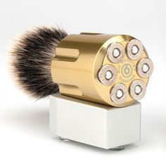 Six shooter saving brush.  Is the shaver a Romeo & Juliet style gun?  http://www.imfdb.org/images/0/02/RJ-02092.jpg