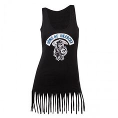 Sons of Anarchy Women's Fringed Tank Top