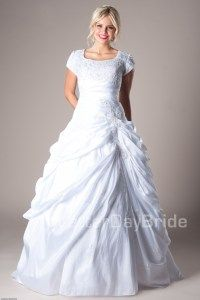 What a perfect dress!  Give it a repin.  Available at www.latterdaybride.com