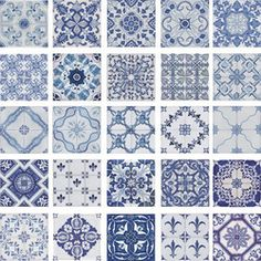 Portuguese traditional decorative hand painted ceramic tiles azulejos