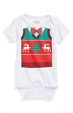 Sara Kety Baby & Kids 'Christmas Vest' Bodysuit (Baby Boys) available at #Nordstrom