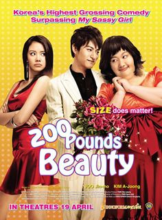 200 Pound Beauty (2006): Bright and lovable Kang Hanna (Kim Ah Jung) attracts everyone with her beautiful voice. But she's overlooked and made fun of because of her obesity. When a malicious joke leaves her humiliated and heartbroken, Hanna makes a drastic decision: full-body plastic surgery. One year later, a slim and drop-dead gorgeous Hanna (now going by Jenny) wins over everyone with her beautiful looks and voice. Can Hanna keep everything she's ever wanted if her secret is revealed?