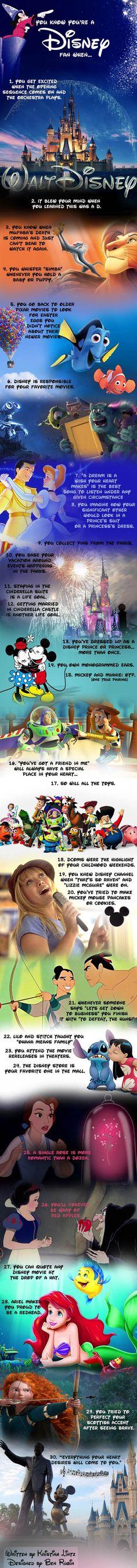 A true Disney fan...